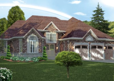Exterior 3d residential visualization